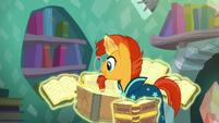 Sunburst reading the books S6E2