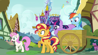 Sunset Shimmer notices Twinkleshine EGSB