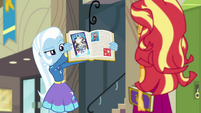 Trixie showing Sunset her yearbook page EGFF