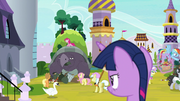 Twilight Sparkle observes left courtyard S9E13