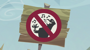 A sign not allowing singing S5E8