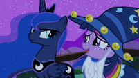 Angry Princess Luna looking at Twilight S02E04