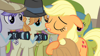 Applejack with hat over her heart S4E20