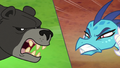 Bear-Thorax and Princess Ember in split-screen S7E15.png