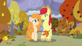 Bright Mac and Pear Butter walking in fall S7E13.png