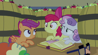 Cutie Mark Crusaders feel the cart stop moving S7E8