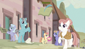 Other village ponies watching the Mane Six S5E1.png