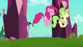 Pinkie Pie and Peachbottom hopping S03E12.png