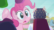 Pinkie Pie in awe of the rock pouch S6E3
