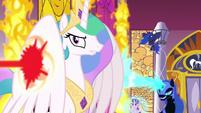 Princess Celestia defying Daybreaker S7E10