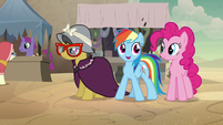 Rainbow Dash excited to be in Somnambula Village S7E18