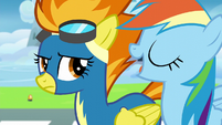 Rainbow shows off her Wonderbolts knowledge S6E7