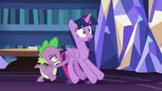 S07E22 Spike pcha Twilight w stronę drzwi wyjściowych