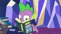 Spike reading Burnferno book S8E24