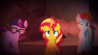 Twilight and RD blinded by Sunset's magic EGSB