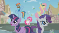 Twilight and friends see the spell take effect S1E10.png