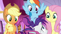 AJ, Rainbow, and Fluttershy offer to help Rarity S7E19.png