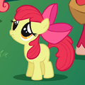 Apple Bloom asking Twilight to stay for brunch.png