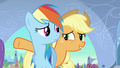 Applejack 'Let me keep the Crystal Ponies away from the fake heart' S3E2.png