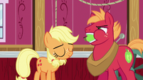 Applejack pleased to have silenced Big McIntosh S6E23