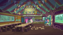 Camp Everfree mess hall covered in dough EG4