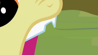 Close-up on Apple Bloom's chipped tooth S2E6