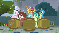 Confetti rains down on the Young Six S8E2