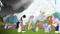 Filly Derpy wins most creative cart in Applewood Derby S6E14.png