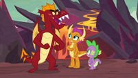 """Garble """"race you to the lava pit"""" S9E9"""