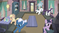 Mane Six and village ponies storm Starlight's house S5E2.png