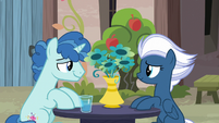 Party Favor and Night Glider sitting together S7E8
