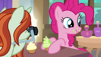 Photographer taking Pinkie Pie's picture S8E13