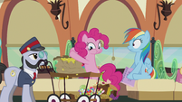 Pinkie paying a lot of bits S5E8