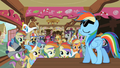 Rainbow Dash Appearing Before Fans S2E08.png