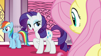 "Rarity ""they must have defeated the villain"" S7E25"