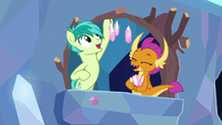 Sandbar and Smolder hang decorative crystals S9E3