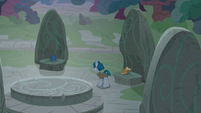 Stygian setting up a magic ritual at Ponhenge S7E26