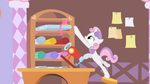 Sweetie Belle Reaches for Ribbon S1E17