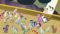 Twilight's family and ponies on the zeppelin deck S7E22.png