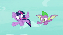 Twilight notices Spike flying S8E11