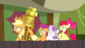 Applejack and CMC shocked S5E6.png