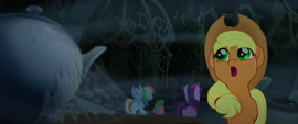 Applejack calling out into the silence MLPTM