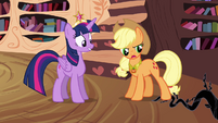 Applejack stomps on black vine S4E01