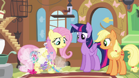 Breezies gathering around Fluttershy S4E16
