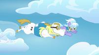 Cloudchaser and Bulk Biceps flying together S3E07