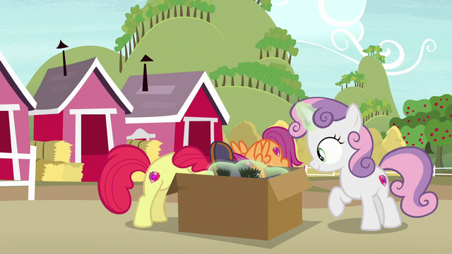File:Cutie Mark Crusaders digging through the box S7E8.png
