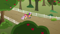 Cutie Mark Crusaders walk to their clubhouse S6E19.png