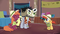 Derpy cosplaying as Dr. Caballeron S6E13.png