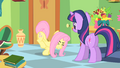 Fluttershy about to kick a vase S1E20.png