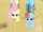 Fluttershy and Rainbow Dash pulling the cart S2E14.png